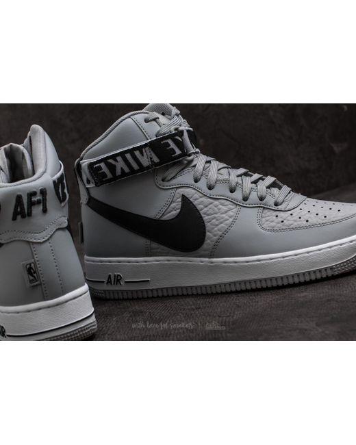 ... Lyst Nike - Air Force 1 High '07 Flight Silver/ Black for Men ...