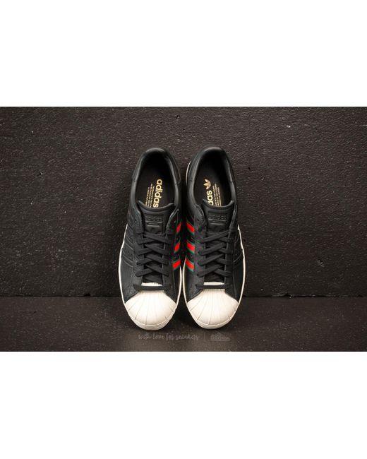 separation shoes b827b e7e6a ... free shipping adidas originals adidas superstar 80s core black green  red for men lyst 40bdf b8121