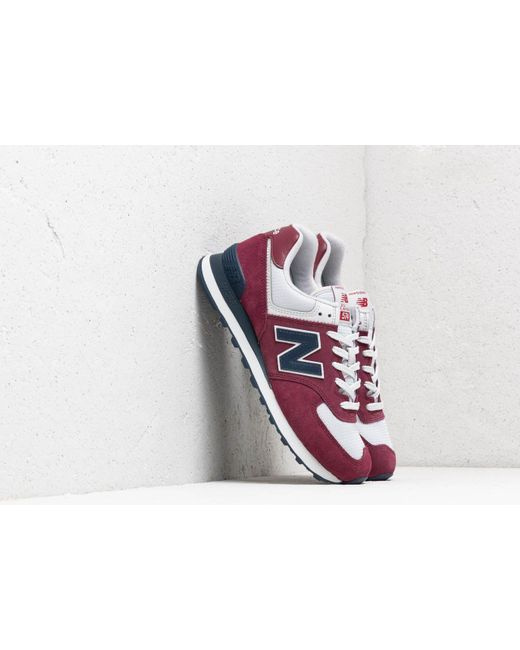 2cc3ea6a7a New Balance - Multicolor 574 Burgundy/ Navy/ White for Men - Lyst ...