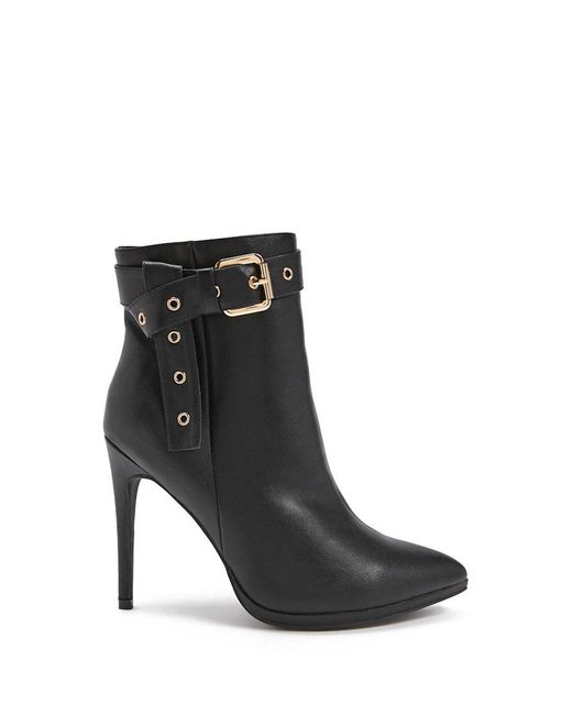 Forever 21 - Black Grommet Faux Leather Booties - Lyst
