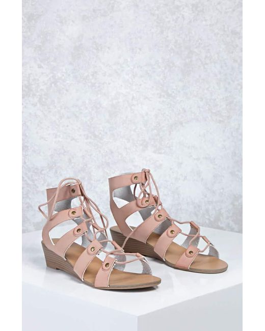 Forever 21   Multicolor Leather Caged Wedges   Lyst