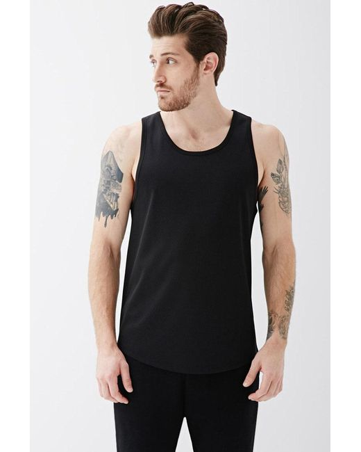 Forever 21 | Black Mesh Jersey Tank for Men | Lyst