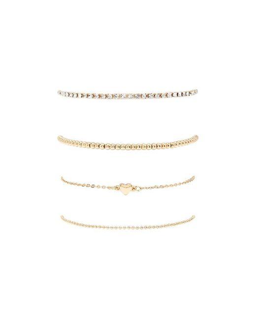 Forever 21 - Metallic Heart Charm Bracelet Set - Lyst