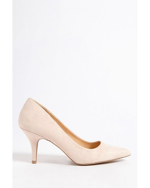 Forever 21 - Natural Qupid Pointed Faux Suede Pumps - Lyst
