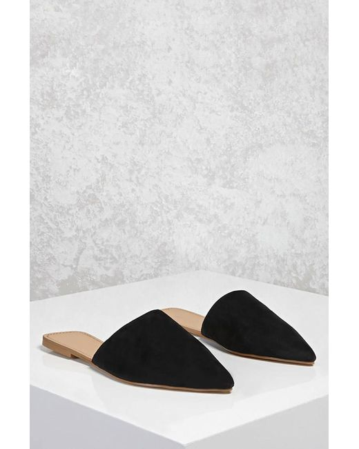 Forever 21   Black Faux Suede Pointed Flats   Lyst