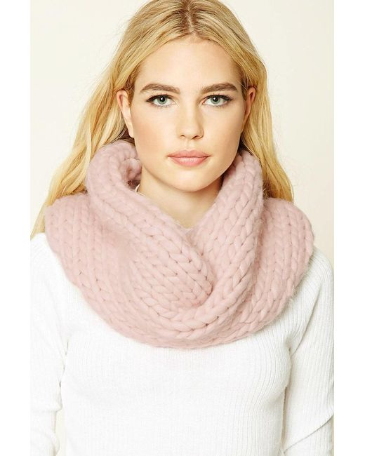 Forever 21   Pink Chevron Infinity Scarf   Lyst