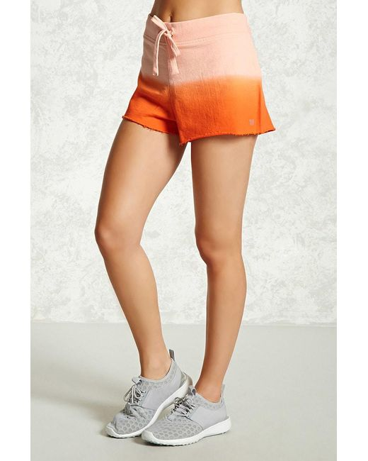 Forever 21 - Orange Active Ombre Shorts - Lyst