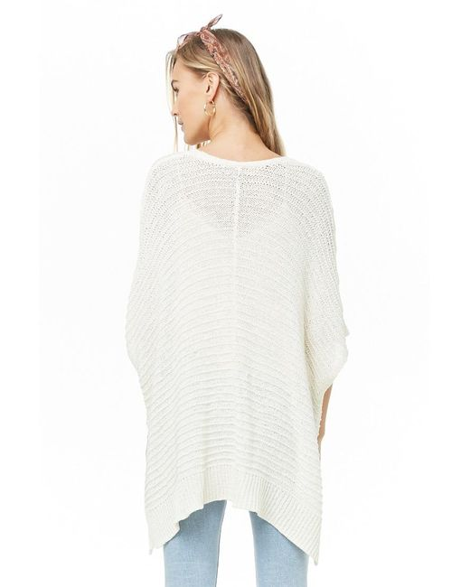 ae7d882c6e954 Forever 21 Women s Ribbed Ricrac-loop Knit Cardigan Sweater in White ...
