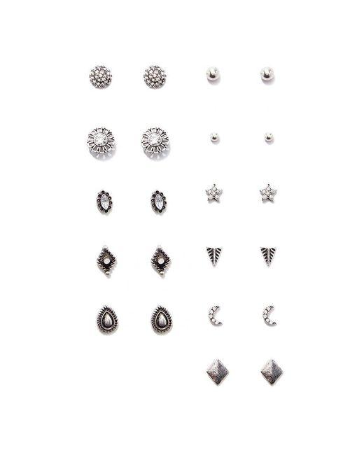 Forever 21 | Metallic Burnished Stud Earring Set | Lyst