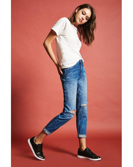 Forever 21 | Blue Girlfriend Jeans | Lyst