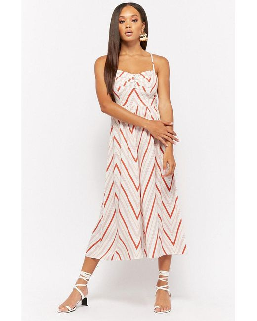 Forever 21 - Multicolor Geo-striped Wide Leg Jumpsuit - Lyst