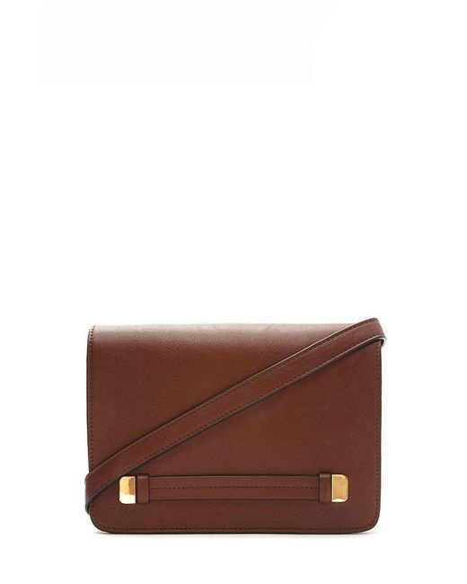 Forever 21 | Brown Structured Faux Leather Crossbody | Lyst