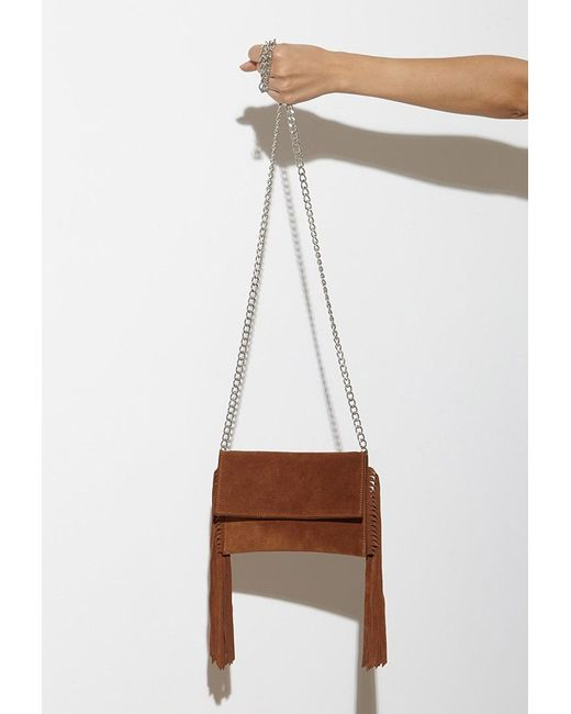 Forever 21 | Brown Jj Winters Josie Fringed Suede Crossbody | Lyst