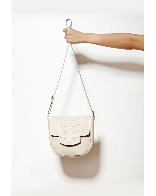 Forever 21   Natural Collina By Collina Strada Cora Leather Crossbody   Lyst