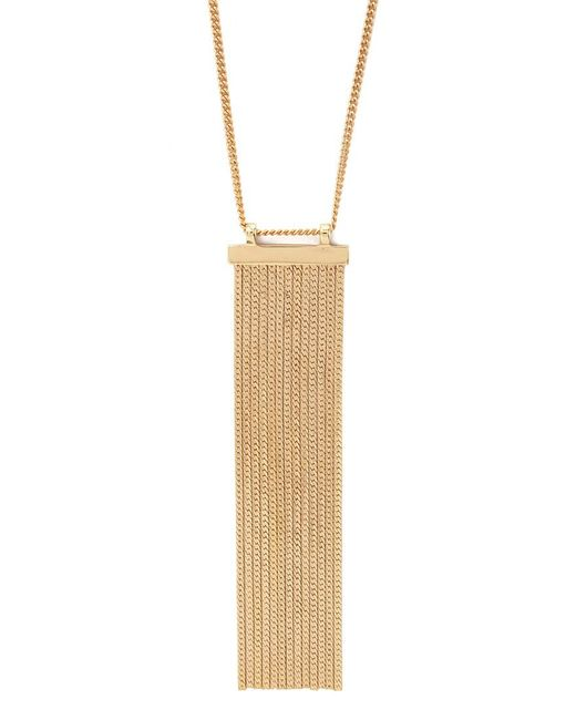 Forever 21 | Metallic Herringbone Chain Fringed Necklace | Lyst