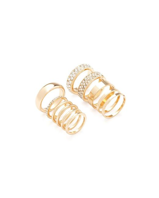 Forever 21 | Metallic Rhinestone Midi Ring Set | Lyst