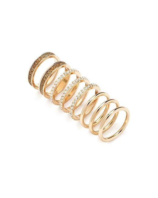 Forever 21   Metallic Rhinestone And Glitter Ring Set   Lyst