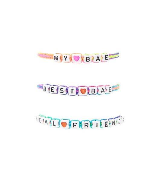 Forever 21 | White Beaded My Bae Bracelet Set | Lyst