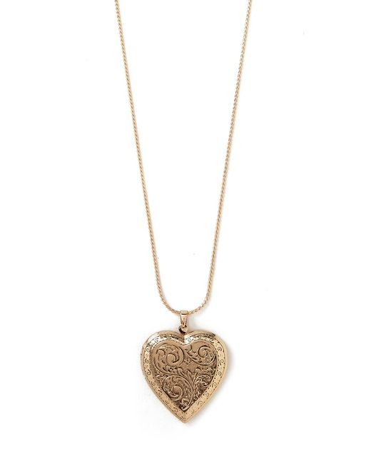 Forever 21 | Multicolor Etched Heart Locket Necklace | Lyst