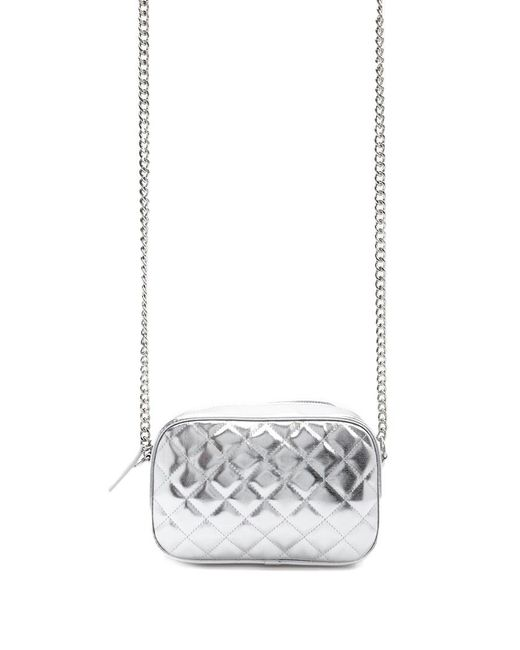 Forever 21 - Metallic Quilted Crossbody Bag - Lyst