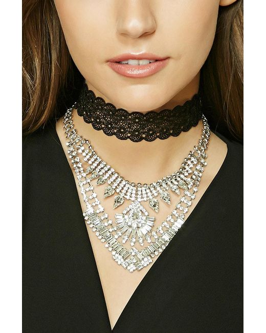 Forever 21 - Metallic Statement Necklace Set - Lyst