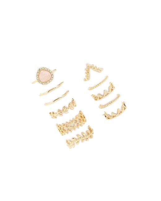 Forever 21 - Metallic Ornate Midi Ring Set - Lyst