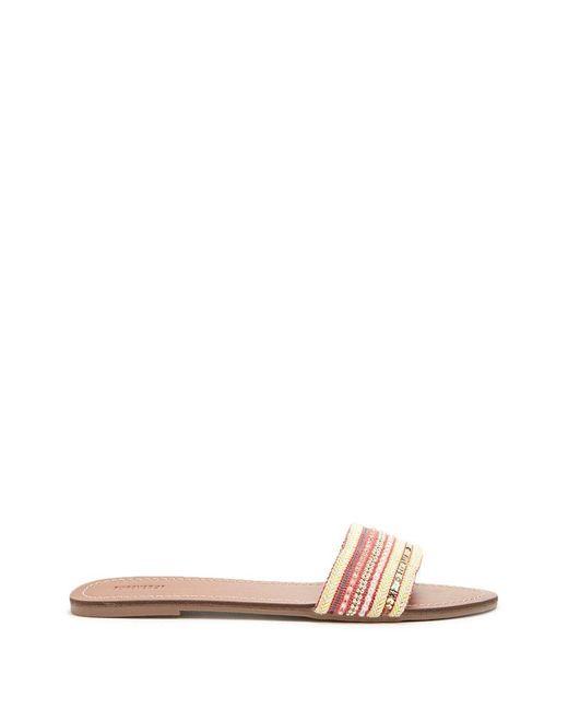 Forever 21 - Red Embellished Slide Sandals - Lyst