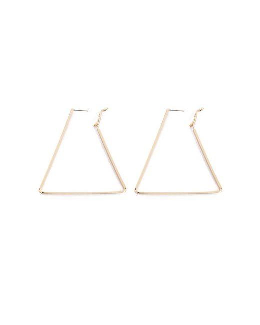 901401705 ... Forever 21 - Metallic Triangle Hoop Earrings - Lyst
