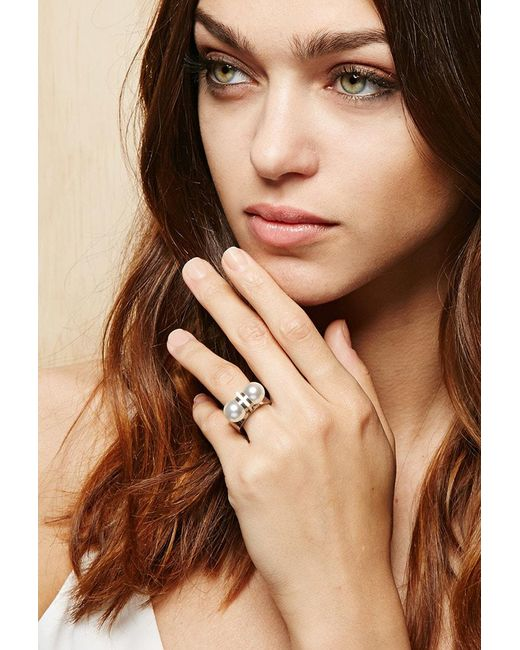 FOREVER21 - Metallic Amber Sceats Thunderball Ring - Lyst