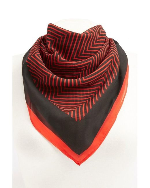 Forever 21 - Red Chevron Print Scarf - Lyst