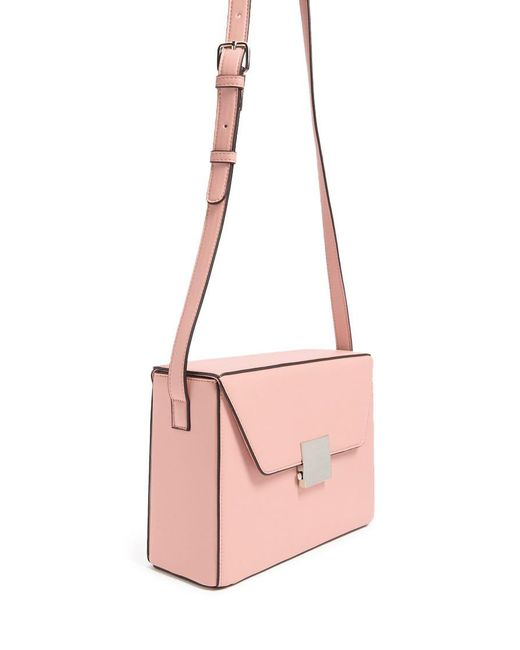 Forever 21 - Pink Faux Leather Push-lock Crossbody Bag - Lyst