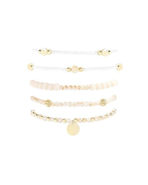 Forever 21 - Metallic Beaded Stretch Bracelet Set - Lyst