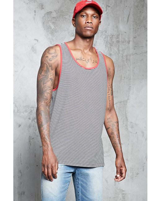 Forever 21 | Multicolor Striped Tank Top for Men | Lyst