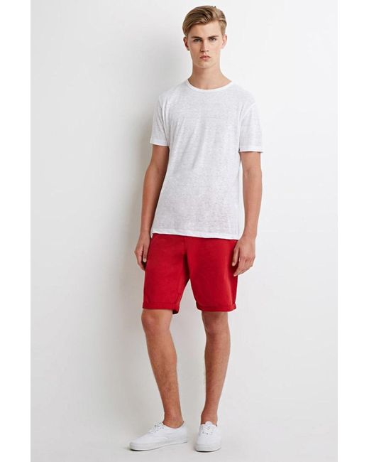 Forever 21 | Red Classic Chino Shorts | Lyst