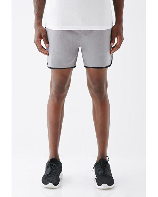 Forever 21 | Gray Satin-trimmed Gym Shorts for Men | Lyst
