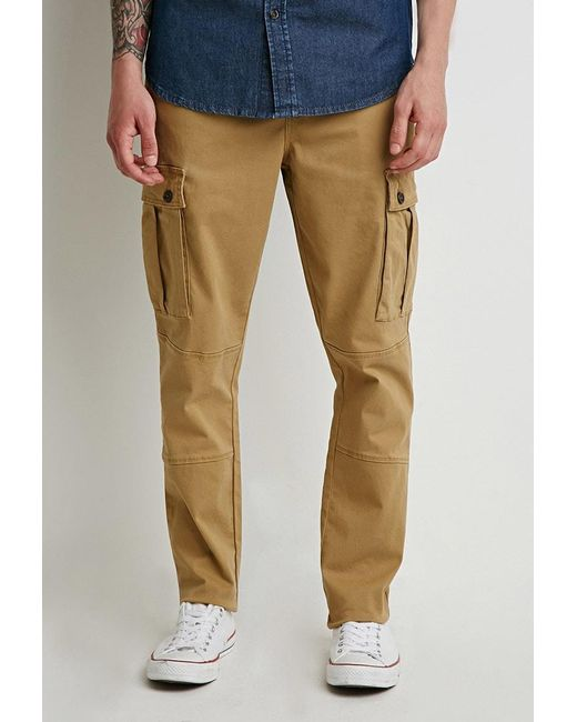 Forever 21 | Natural Twill Drawstring Cargo Pants for Men | Lyst