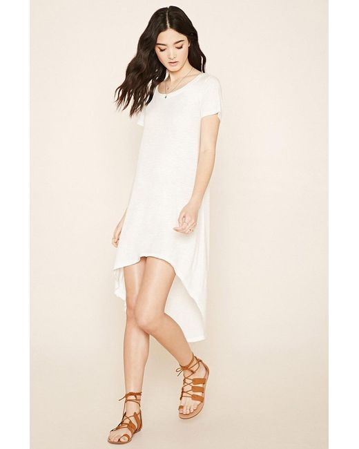 Forever 21 | Natural Curved-hem T-shirt Dress | Lyst