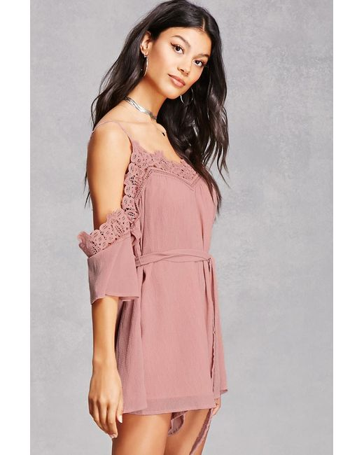 Image result for forever 21 crochet open shoulder romper