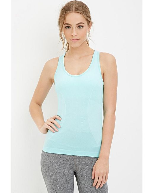 Forever 21 | Blue Seamless Athletic Tank | Lyst