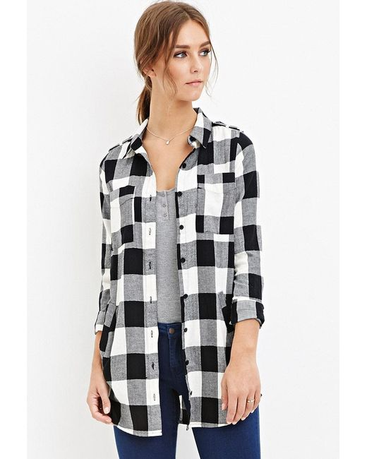 Forever 21 | Black Tartan Plaid Shirt You've Been Added To The Waitlist | Lyst