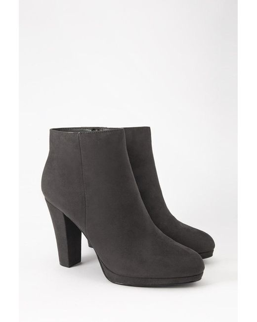 Forever 21 | Gray Faux Suede Booties | Lyst