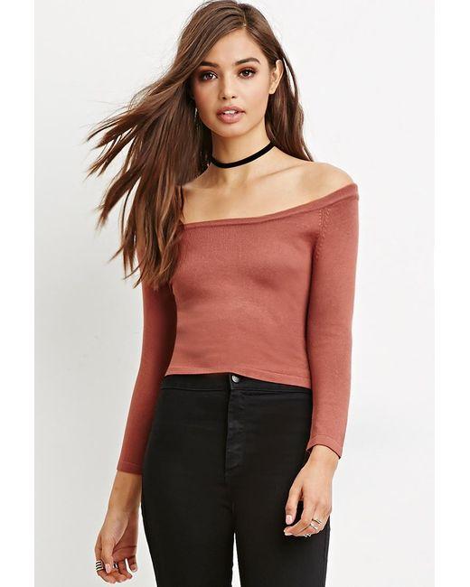 Forever 21 | Purple Cropped Raglan Sweater | Lyst