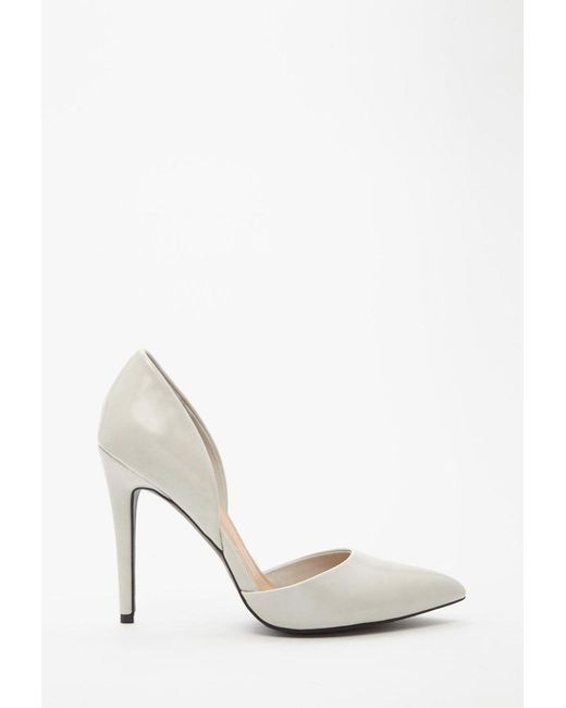 Forever 21 | Gray Faux Leather Pumps | Lyst