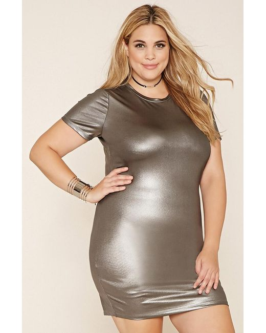 Forever 21 | Plus Size Metallic Sheath Dress | Lyst