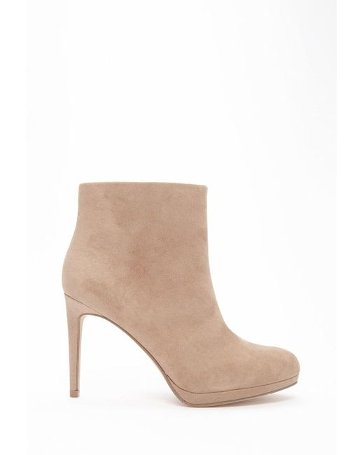 Forever 21   Gray Faux Suede Booties   Lyst