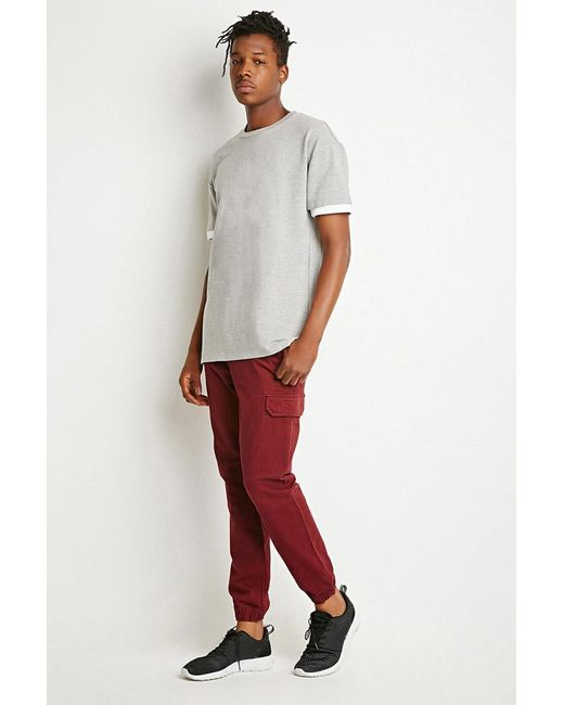 Forever 21 | Purple Twill Cargo Joggers for Men | Lyst