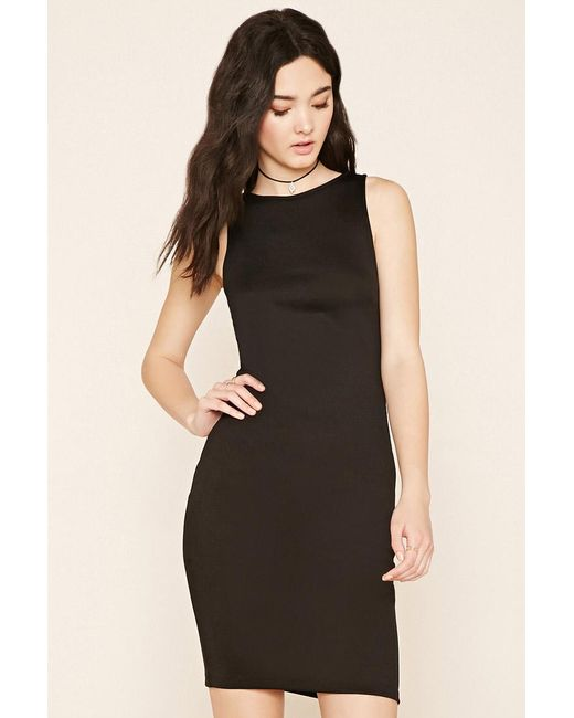 Forever 21 | Black Stretch Knit Bodycon Dress | Lyst
