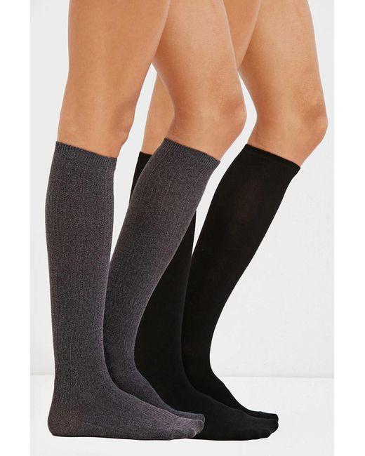 Forever 21 | Black Over-the-knee Sock Set | Lyst