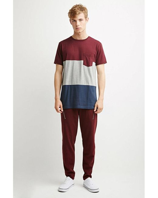 Forever 21 | Purple Zip-pocket Piqué Joggers for Men | Lyst