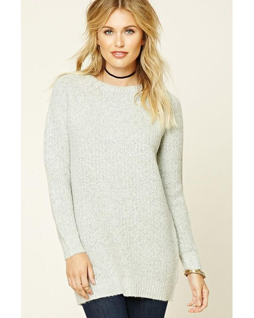 Forever 21 | Gray Marled Knit Jumper | Lyst